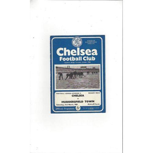 Chelsea v Huddersfield Town 1962/63