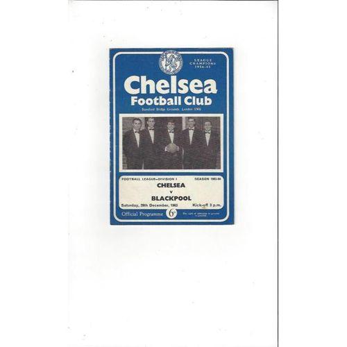 Chelsea v Blackpool 1963/64