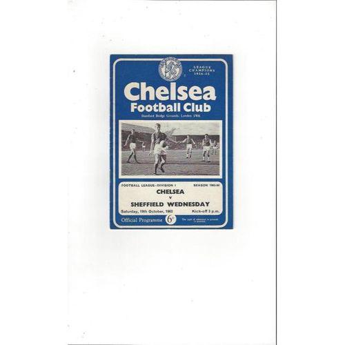 Chelsea v Sheffield Wednesday 1963/64