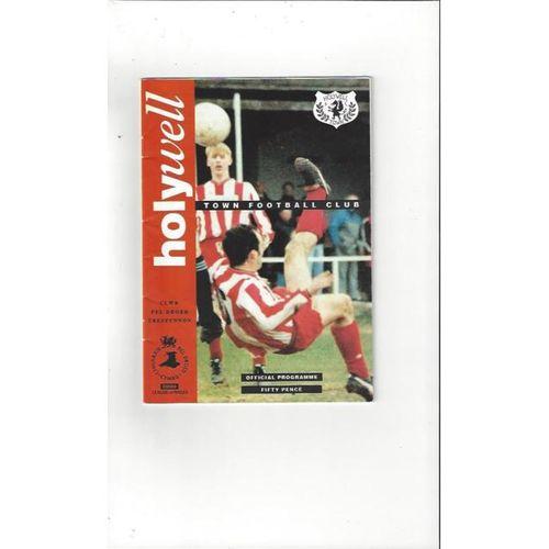 Holywell v Southport Friendly Football Programme 1993/94