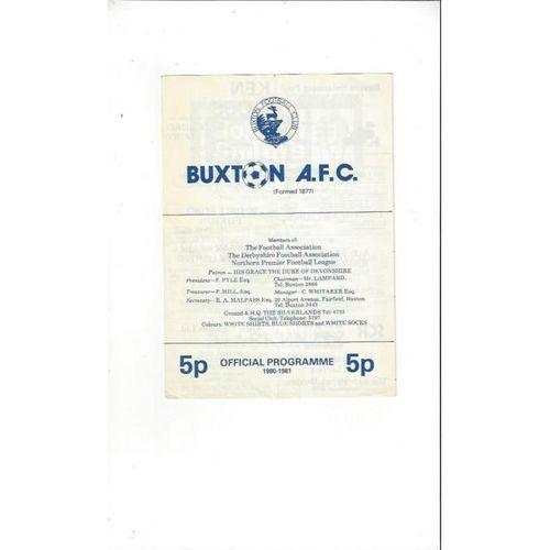 Buxton v Southport 1981/82