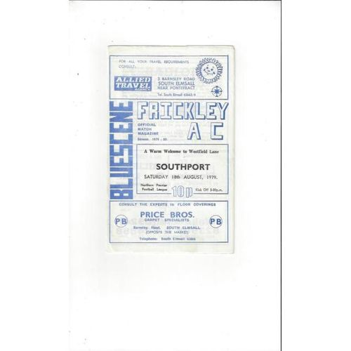 Frickley Athletic v Southport 1979/80
