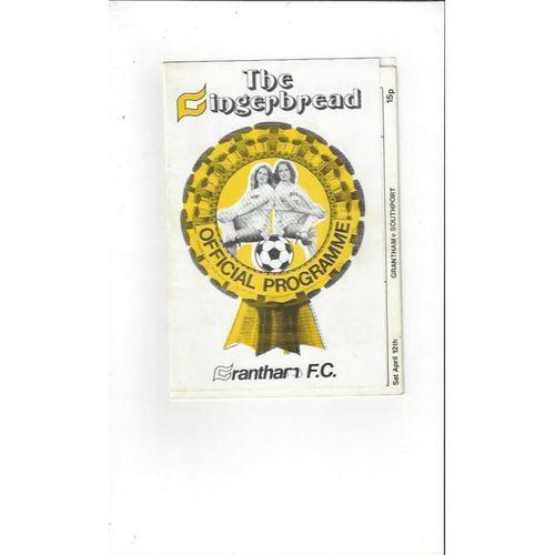 1979/80 Grantham v Southport Football Programme