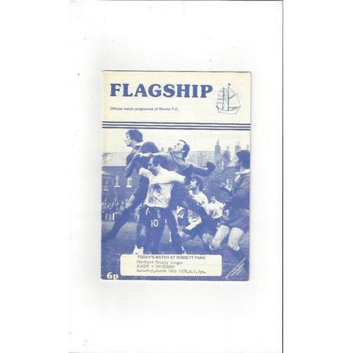 1977/78 Marine v Droylsden Football Programme