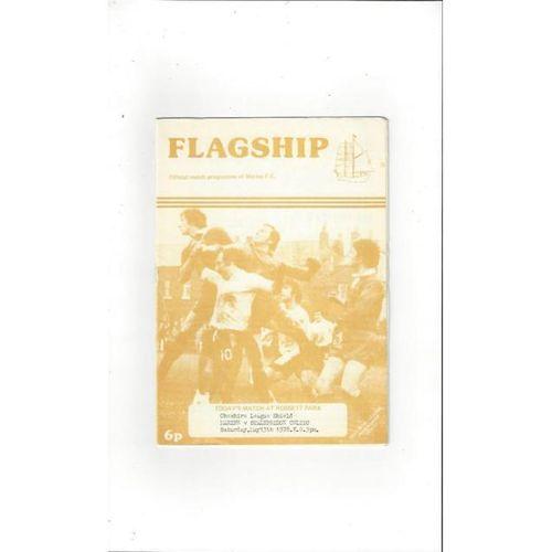 1977/78 Marine v Stalybridge Celtic Cheshire League Shield Football Programme
