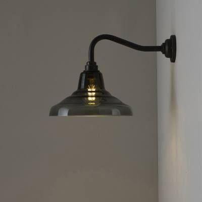 Glass School wall light