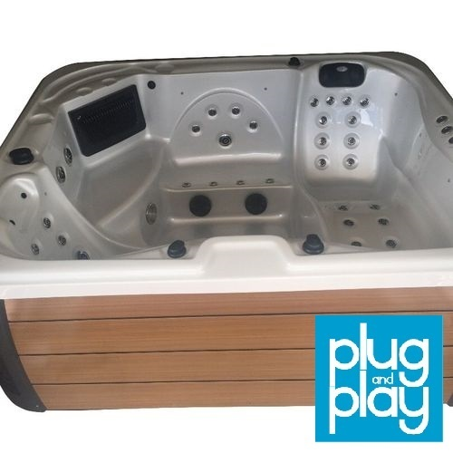 the valencia model hot tub 5 seater twin lounger 13amp plug and play