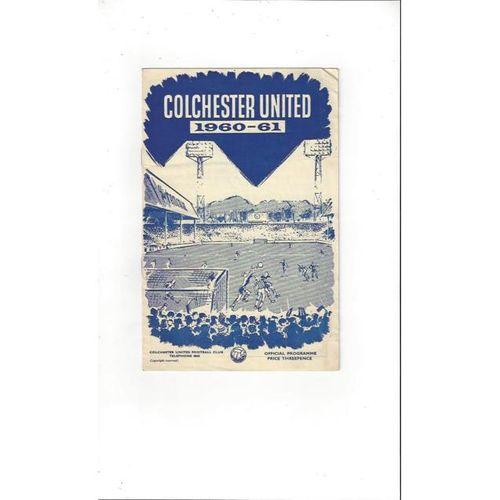 Colchester United v Shrewsbury Town 1960/61