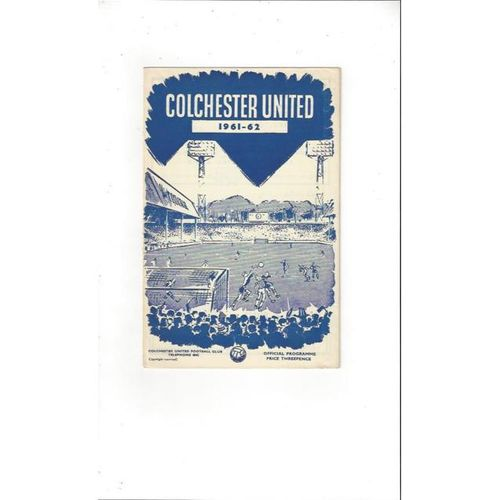 1961/62 Colchester United v Southport Football Programme