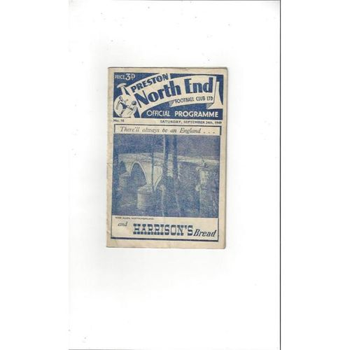 1949/50 Preston v Barnsley Football Programme
