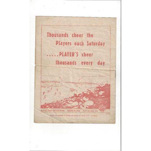 1946/47 Nottingham Forest v Barnsley Football Programme