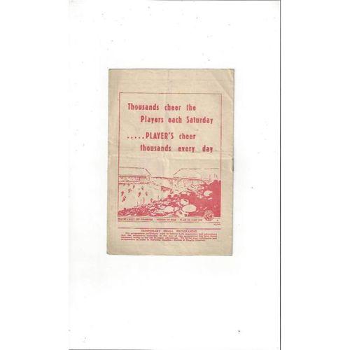 1947/48 Nottingham Forest v Barnsley Football Programme