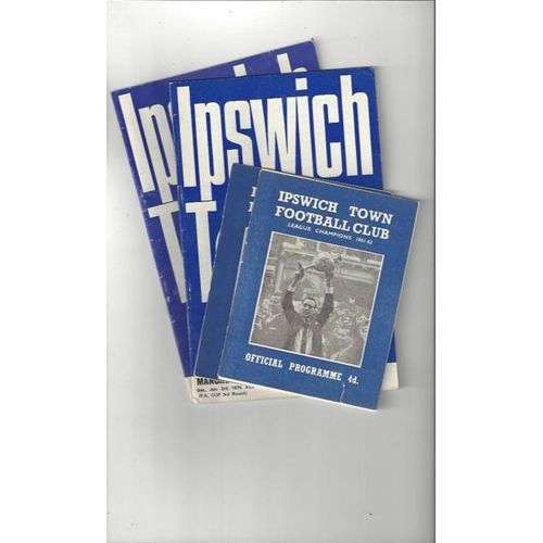 4 x Ipswich Town Home Football Programmes 1962/63 - 1969/70