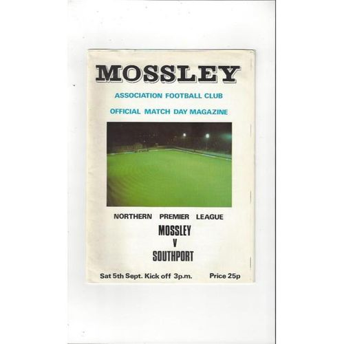 1981/82 Mossley v Southport Football Programme