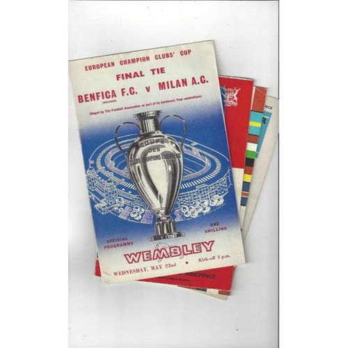 14 x Mixed European Football Programmes 1961 to 2002