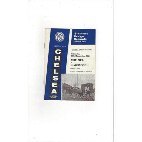 Chelsea v Blackpool 1964/65
