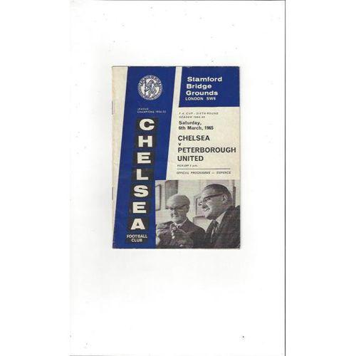 Chelsea v Peterborough United FA Cup 1964/65