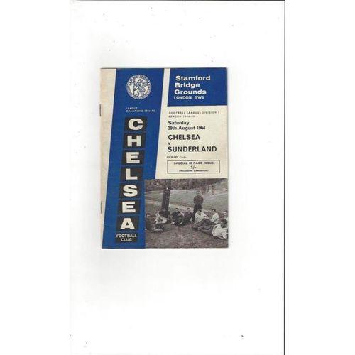 Chelsea v Sunderland 1964/65