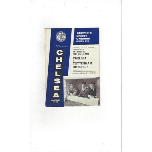 Chelsea v Tottenham Hotspur 1964/65
