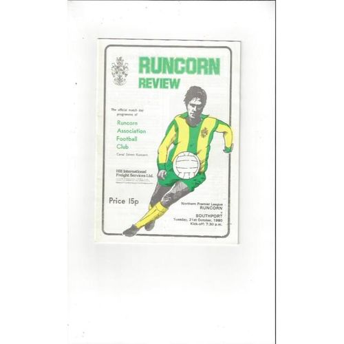 1980/81 Runcorn v Southport Football Programme