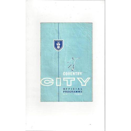 1963/64 Coventry City v Watford Football Programme