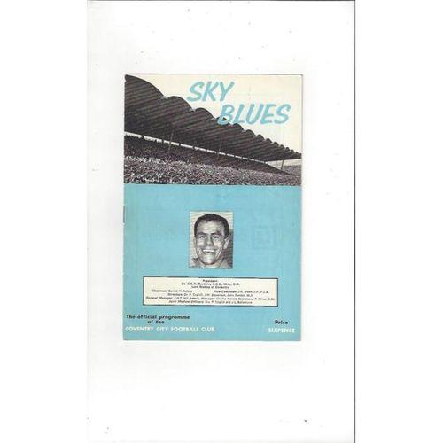 1965/66 Coventry City v Carlisle United Football Programme