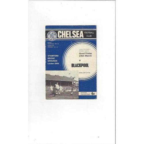 Chelsea v Blackpool 1966/67