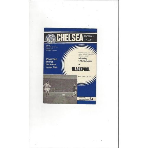 Chelsea v Blackpool League Cup Replay 1966/67