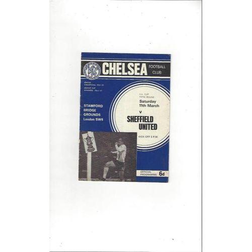 Chelsea v Sheffield United FA Cup 1966/67