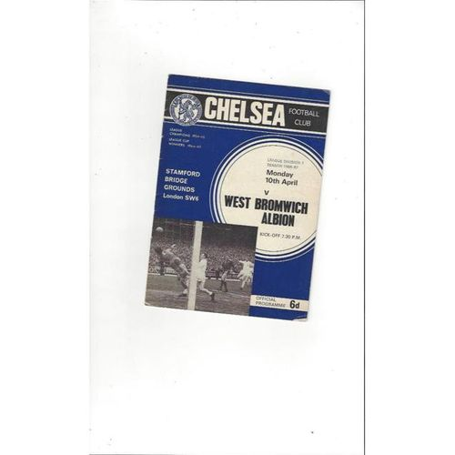 Chelsea v West Bromwich Albion 1966/67