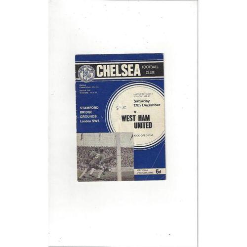 Chelsea v West Ham United 1966/67