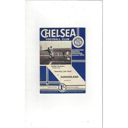 Chelsea v Sunderland 1967/68