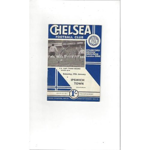 Chelsea v Ipswich Town FA Cup 1967/68