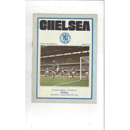 1975/76 Chelsea v Leyton Orient Football Programme