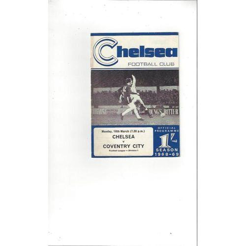 Chelsea v Coventry City 1968/69