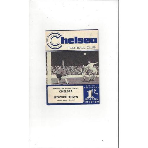 Chelsea v Ipswich Town 1968/69