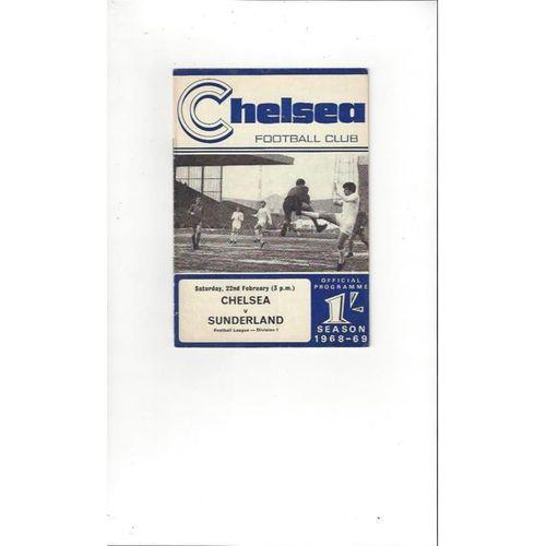 Chelsea v Sunderland 1968/69