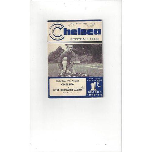 Chelsea v West Bromwich Albion 1968/69 + Handbook