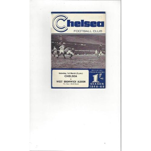 Chelsea v West Bromwich Albion FA Cup 1968/69