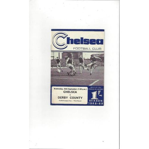 Chelsea v Derby County League Cup 1968/69