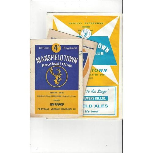 3 x Mansfield Town Home Football Programmes 1962/63 - 1965/66