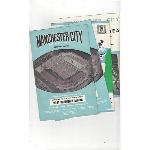 Manchester City Football Programmes