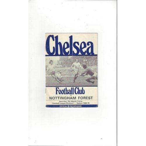 Chelsea v Nottingham Forest 1969/70