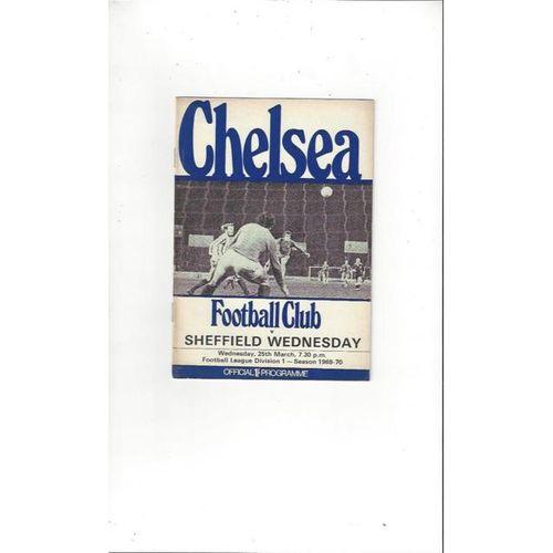 Chelsea v Sheffield Wednesday 1969/70