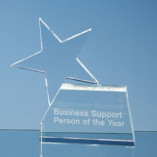 Optical Crystal Single'Rising Star' Award (14cm)