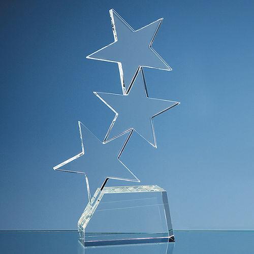 Optical Crystal Triple 'Rising Star' Award (28cm)