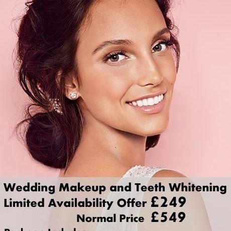 Wedding makeup and Teeth Whitening
