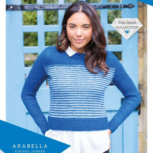 Arabella Striped Jumper (WYS Wensleydale Gems)