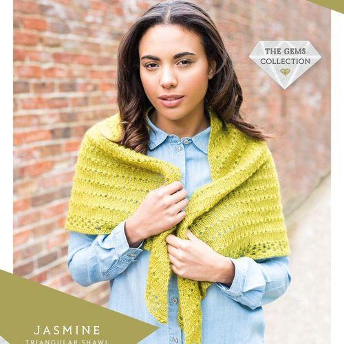 Jasmine Triangular Shawl (WYS Wensleydale Gems)