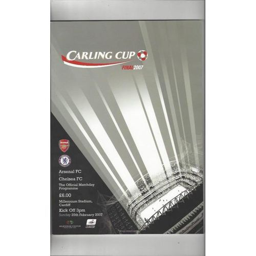 Arsenal v Chelsea Carling Cup Final 2007